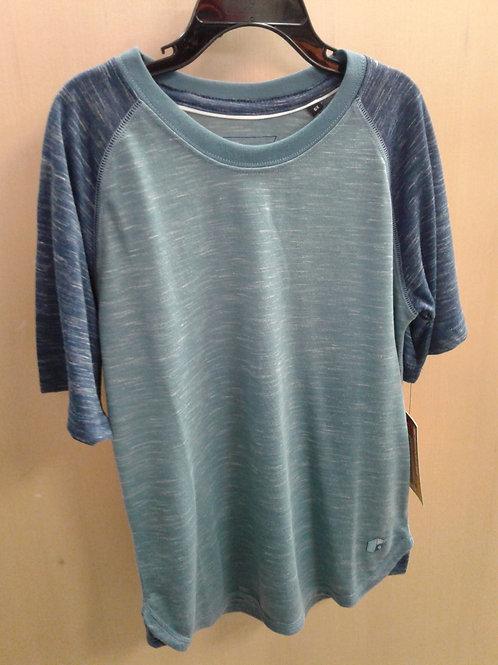 Burnside t-shirt, green/blue