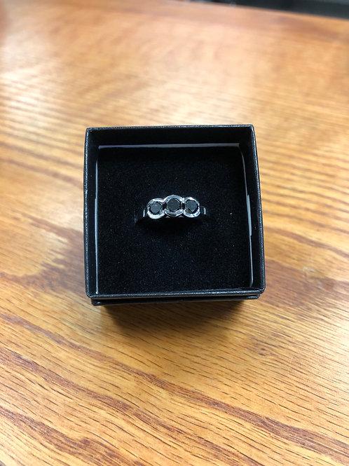 1.22ctw Black Diamond Ring, Size 7