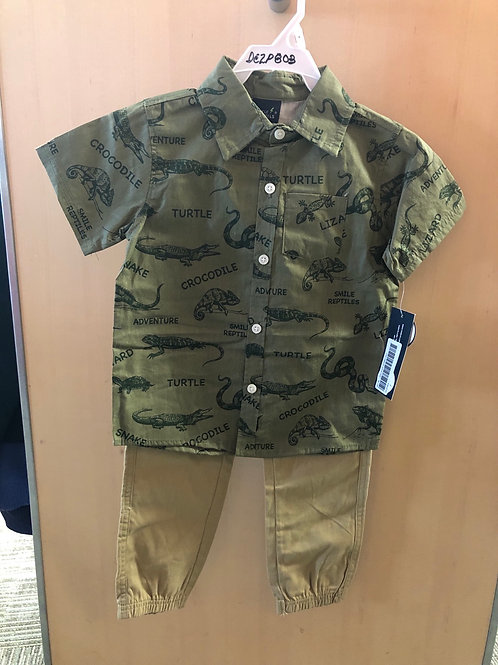 Little Rebel 2 piece shirt & pant set, 4-7