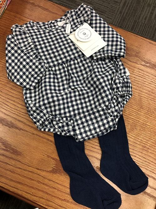 Petit Lem Organic Cotton Bodysuit & Tights Set