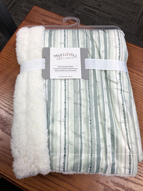 Necessities Minky Baby Blanket, Birch