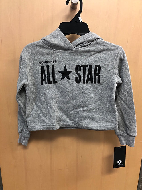 Converse All Star Crop Hoodie, 4-6x