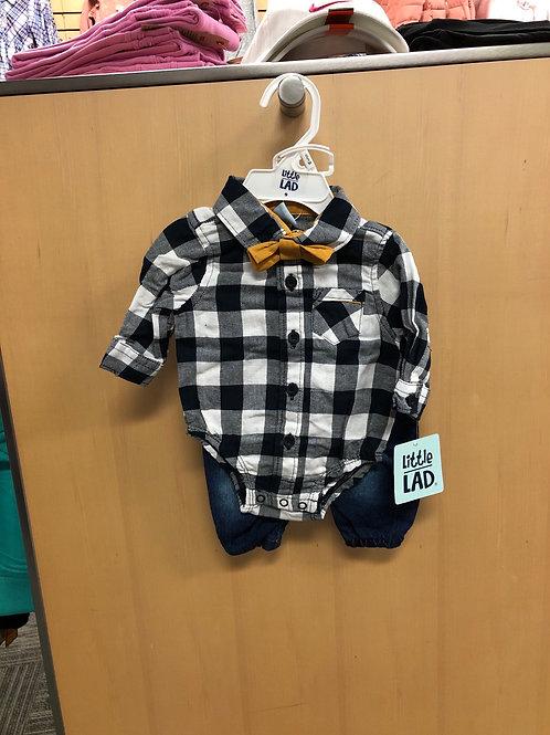 3pc Denim Jeans Set, 0/3-6/9m