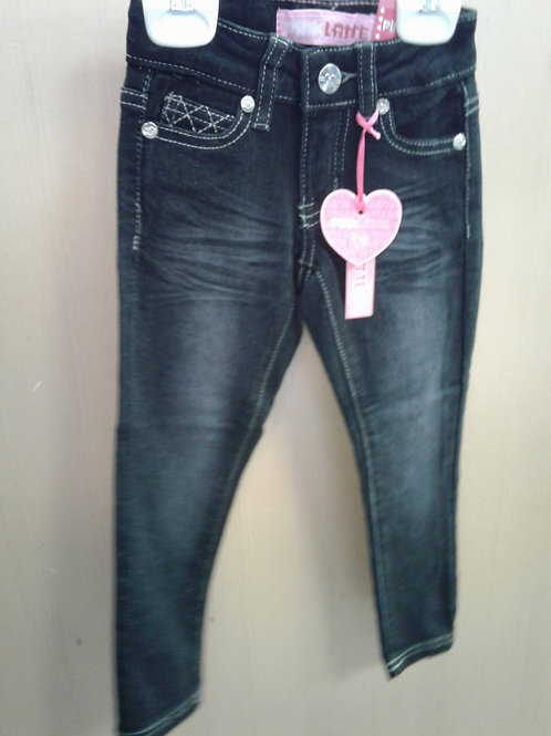 Pink Latte denim jeans, black