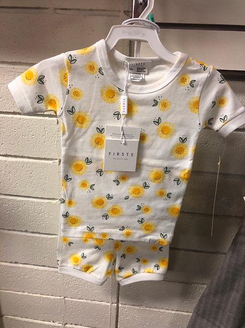 Petit Lem 2 pc pj set, Sunflower