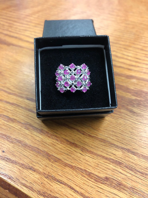 1.53ctw Pink Ruby Ring, Size 6