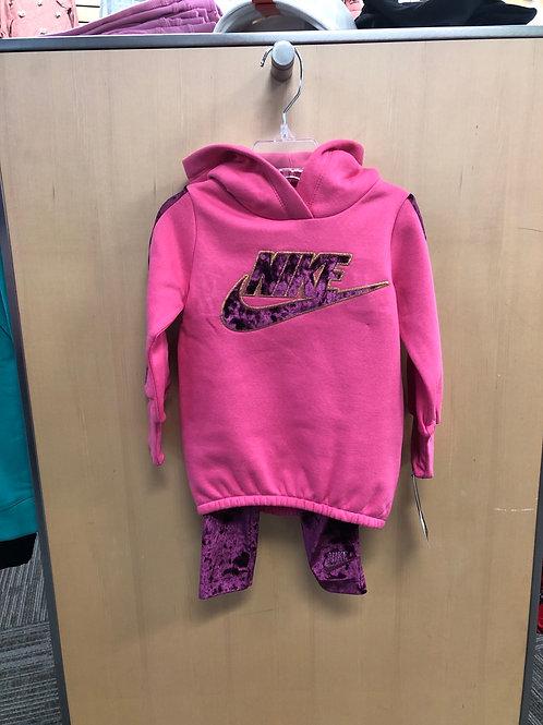 Nike Fleece Tunic & Velour Legging Set, 2T