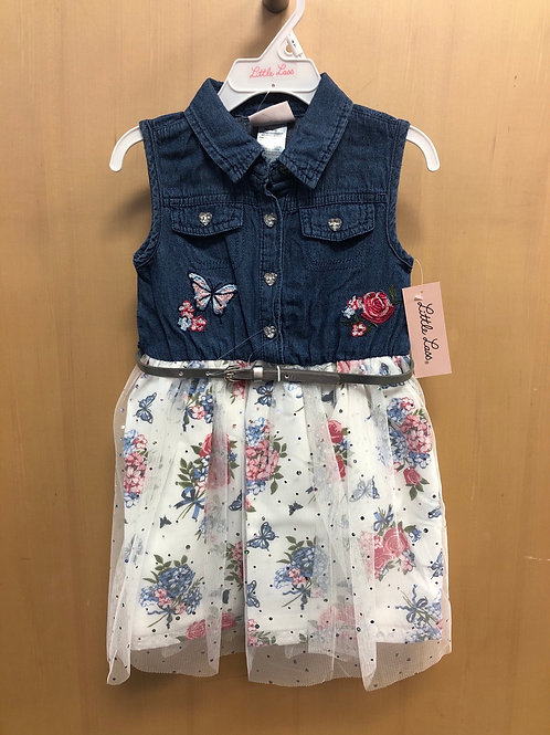 Little Lass Denim Dress,  2T - 4T