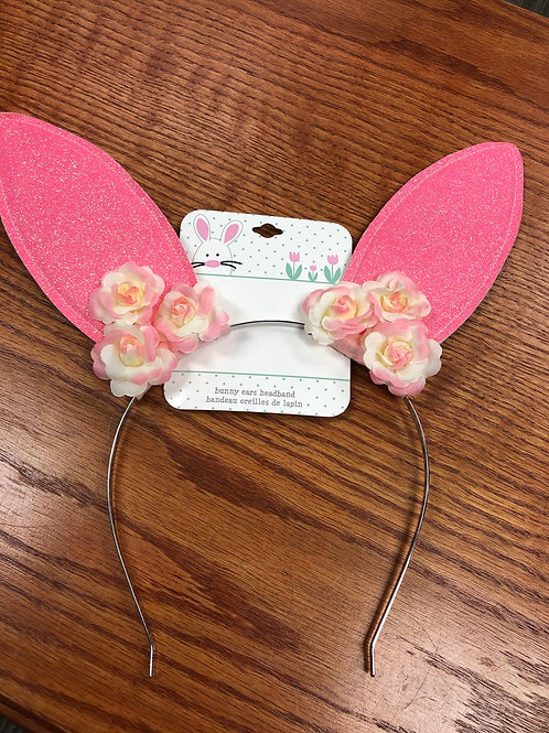 Easter Bunny Ears Headband, pink