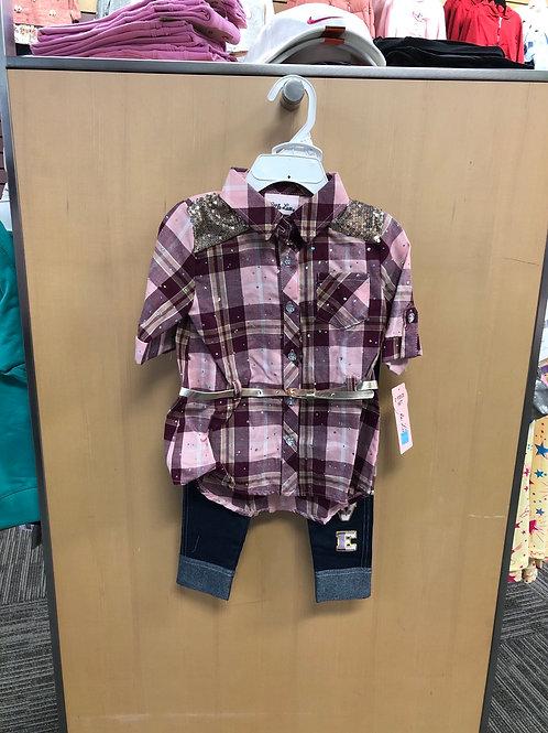 2pc Shirt & Legging Set, 2T-4T