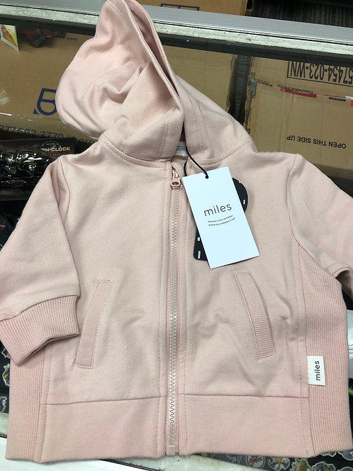 Miles Baby Organic Cotton Hoodie, Pink