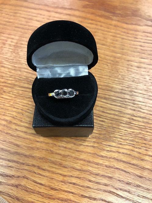 1.16ctw Black Diamond Ring, Size 8
