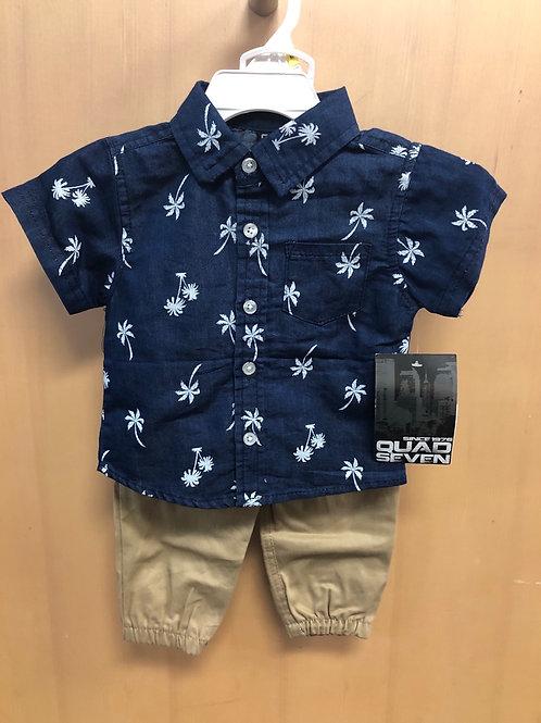Quad Seven 2pc Shirt & Pant Set, 12m - 24m