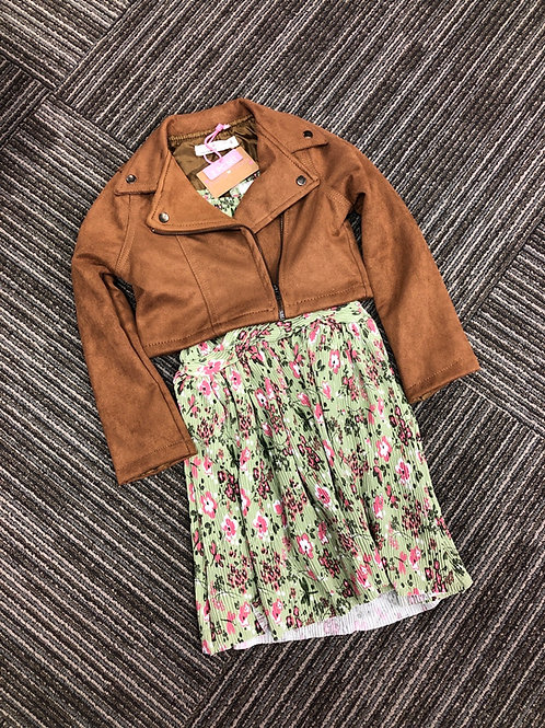 """Young Hearts Dress &  """"Suede"""" Jacket Set"""