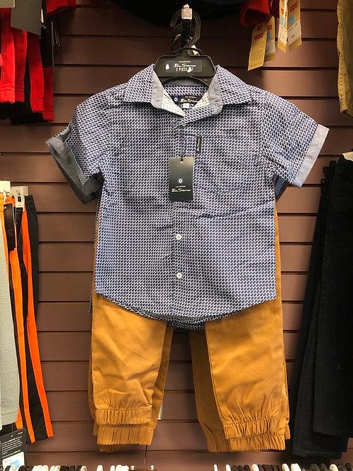 Ben Sherman 2pc Shirt & Pant Set, 4-7