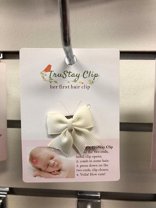 Baby Hair Clip, cream