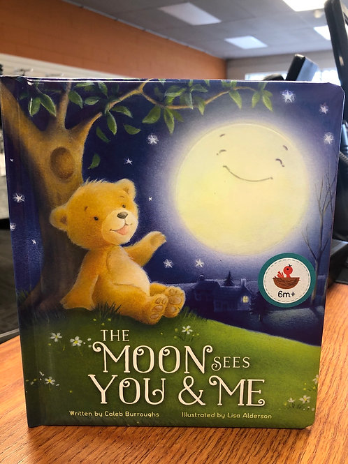 The Moon Sees You & Me Book
