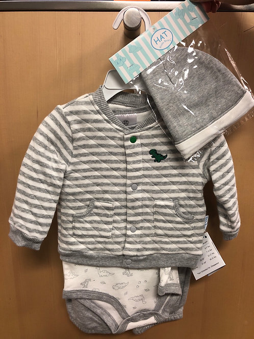 Petite Bears 4 Piece Quilted Jacket Set
