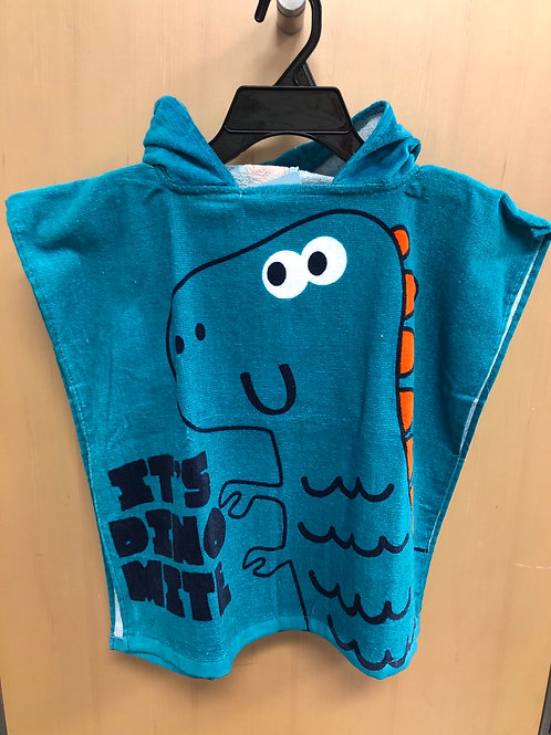 Hooded Beach Poncho, Dino