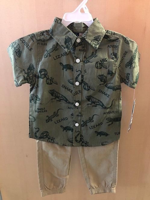 2 piece shirt and pant set, 2T-4T