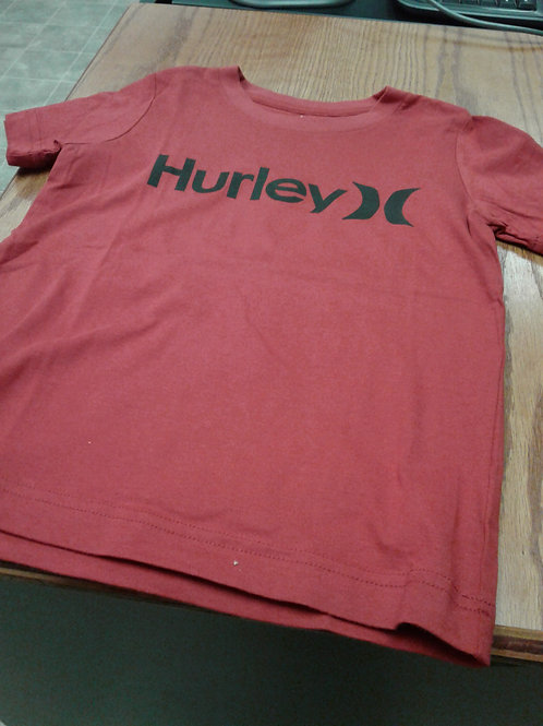 Hurley T-shirt, red & black