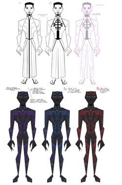 Black Panther character outfit and suit