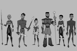 Black Panther Character Line Up