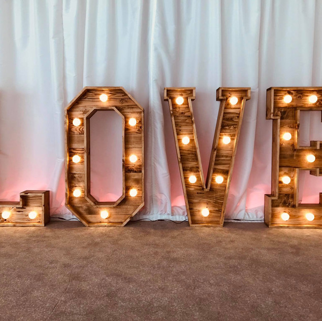 Rustic Love Letters Hire