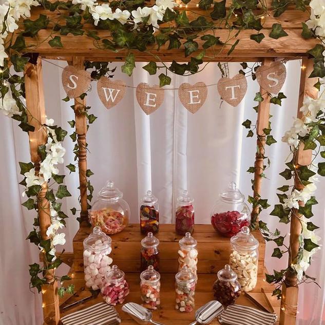 Wooden Sweet Cart