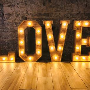 Wooden Wedding LOVE Letters
