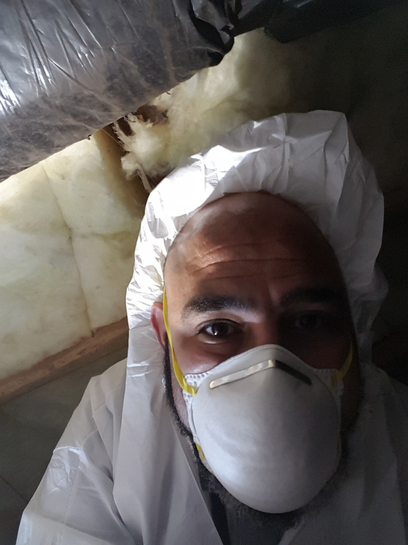 Inspecting a crawlspace_