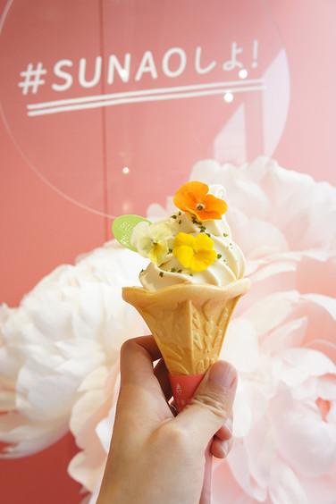 2018.5.22グリコの糖質オフアイスクリーム「SUNAO」の期間限定ショップ『FLOWER SOFT STAND』