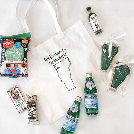 Vermont Wedding Welcome Bag