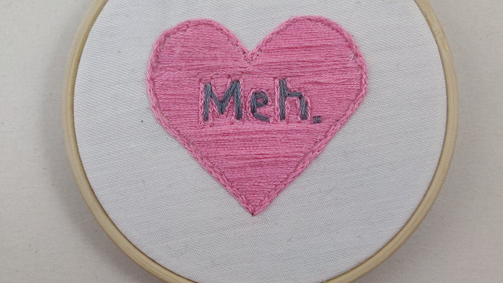 Meh Hand Embroidered Textile Art