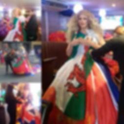 Pride Cmyru 2017 Flag dress by Sew Swansea