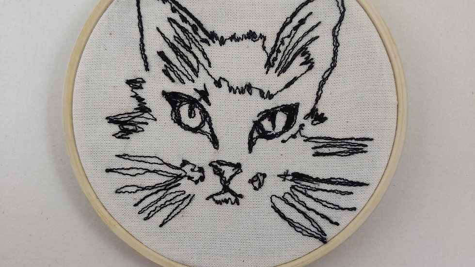 Is it in his eyes cat face thread sketch