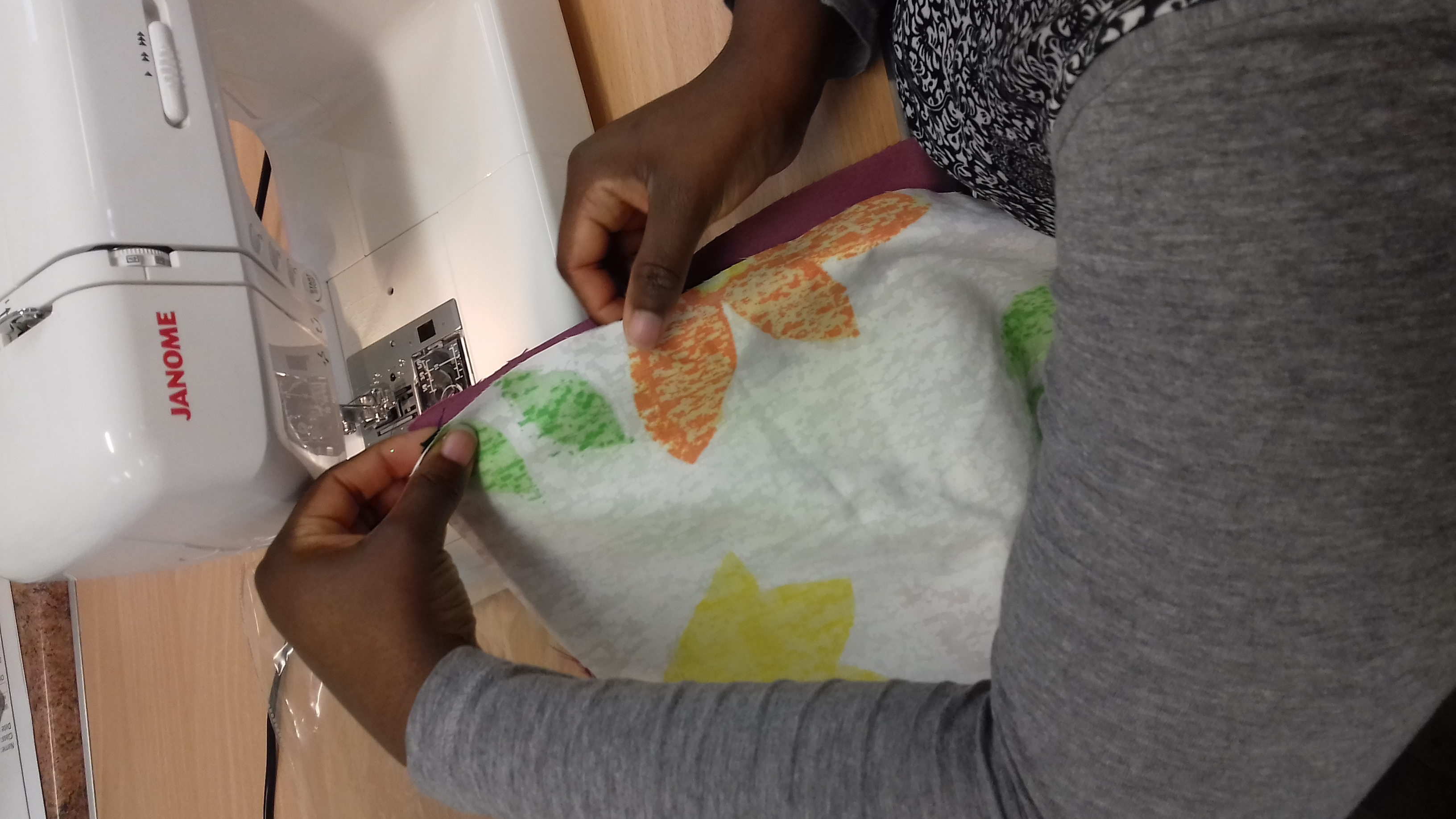 building confidence with sewing