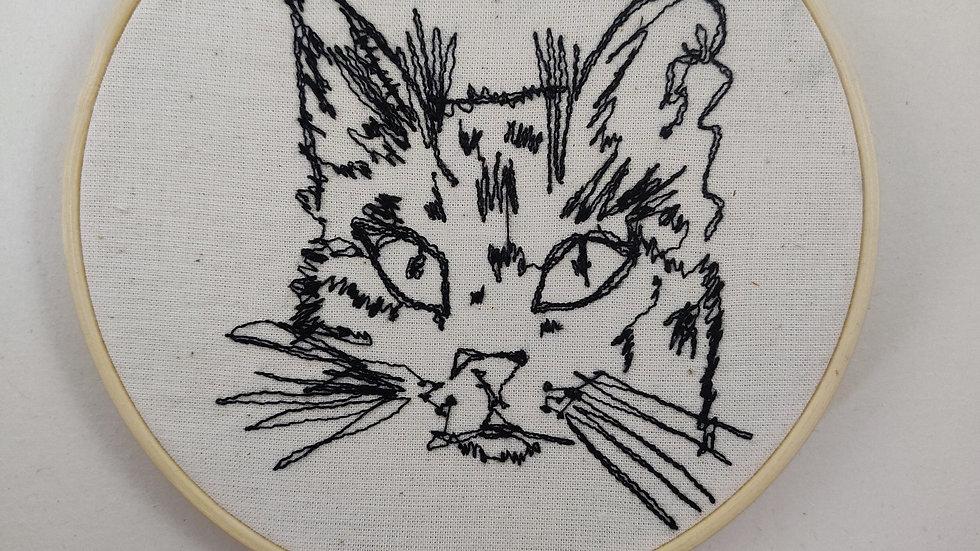 Cat Portrait 1 thread sketch