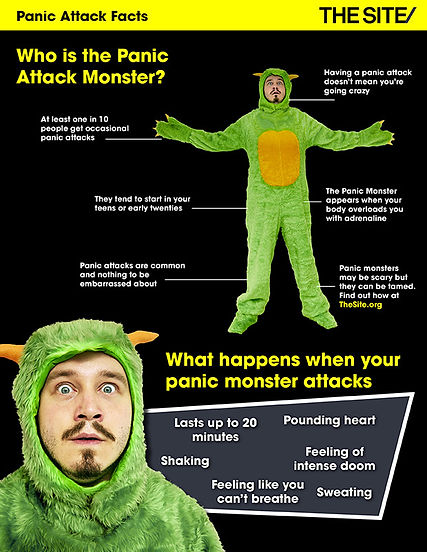 Panic Attack monster suit by Sew Swansea