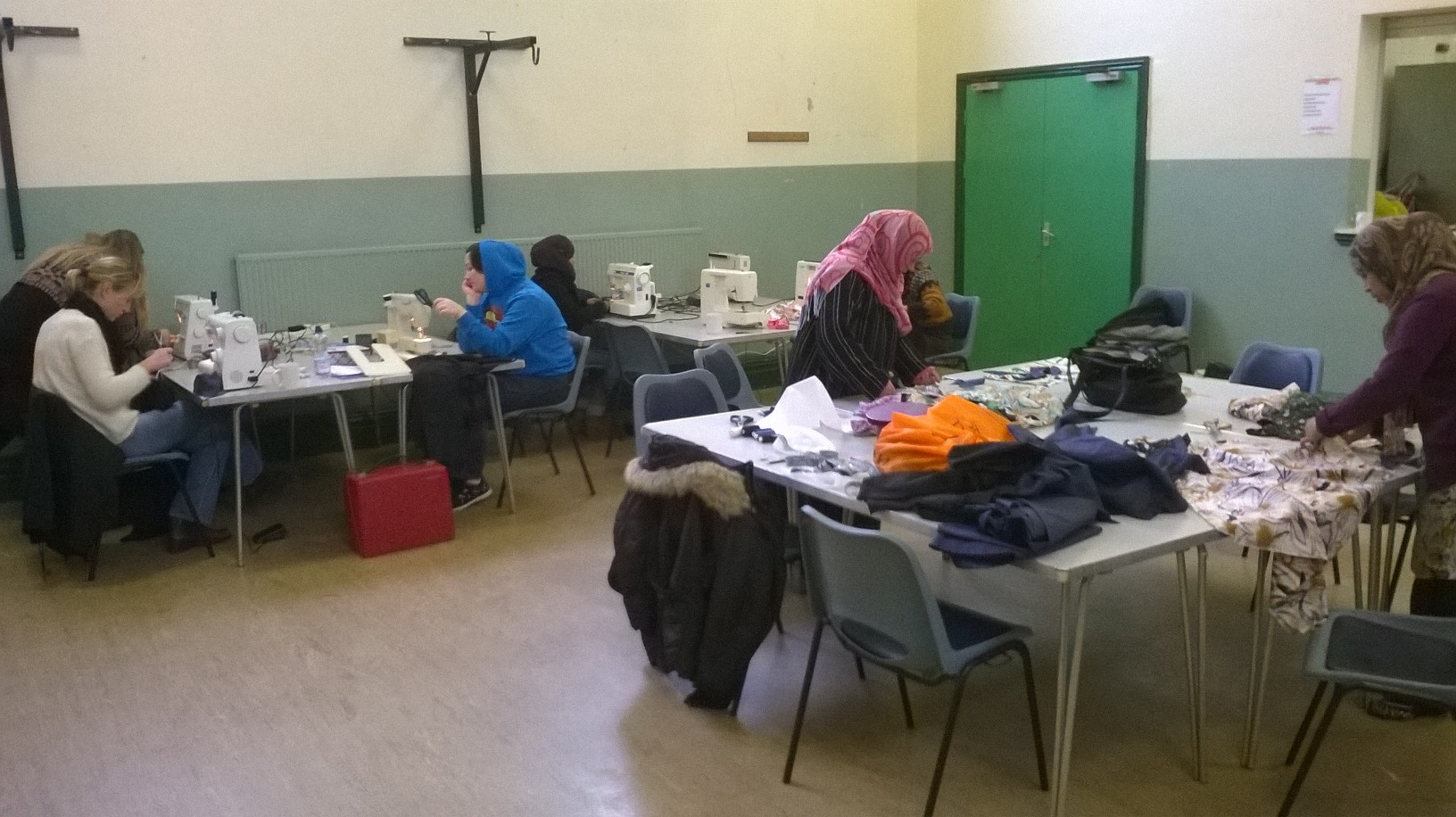 community group sewing workshop