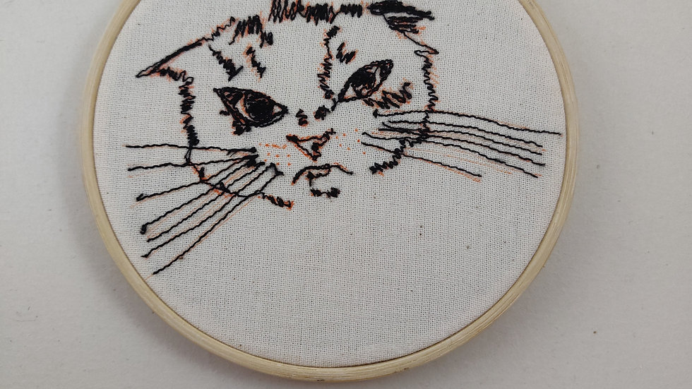 Sulky Cat Thread sketch