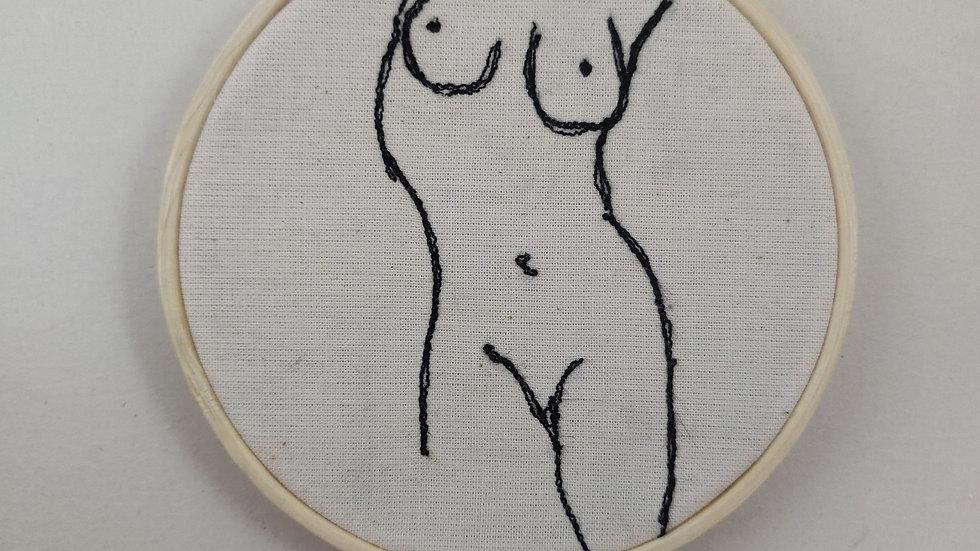 Standing torso thread sketch