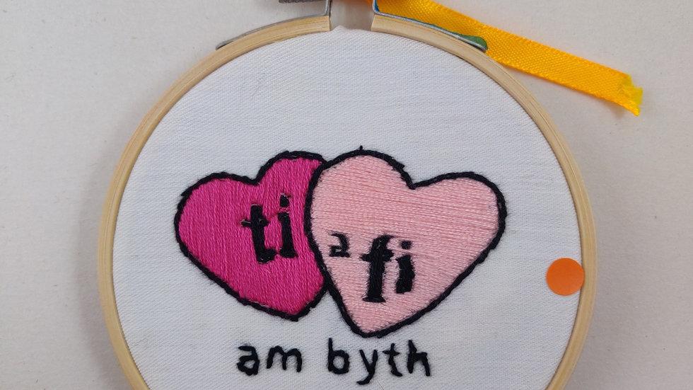 Ti a fi am byth Hand Embroidered Textile Art