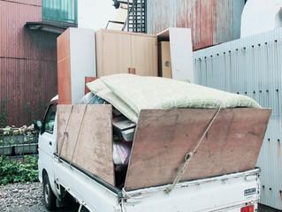 名古屋市熱田区にて エアコン取り外し撤去、他ゴミ片付け