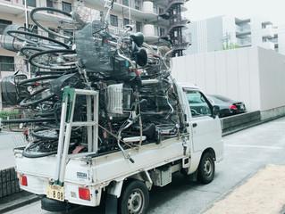 名古屋市千種区にて自転車の回収