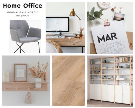 Minimalistisches Home Office