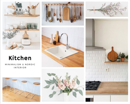 Minimalistische Boho Küche
