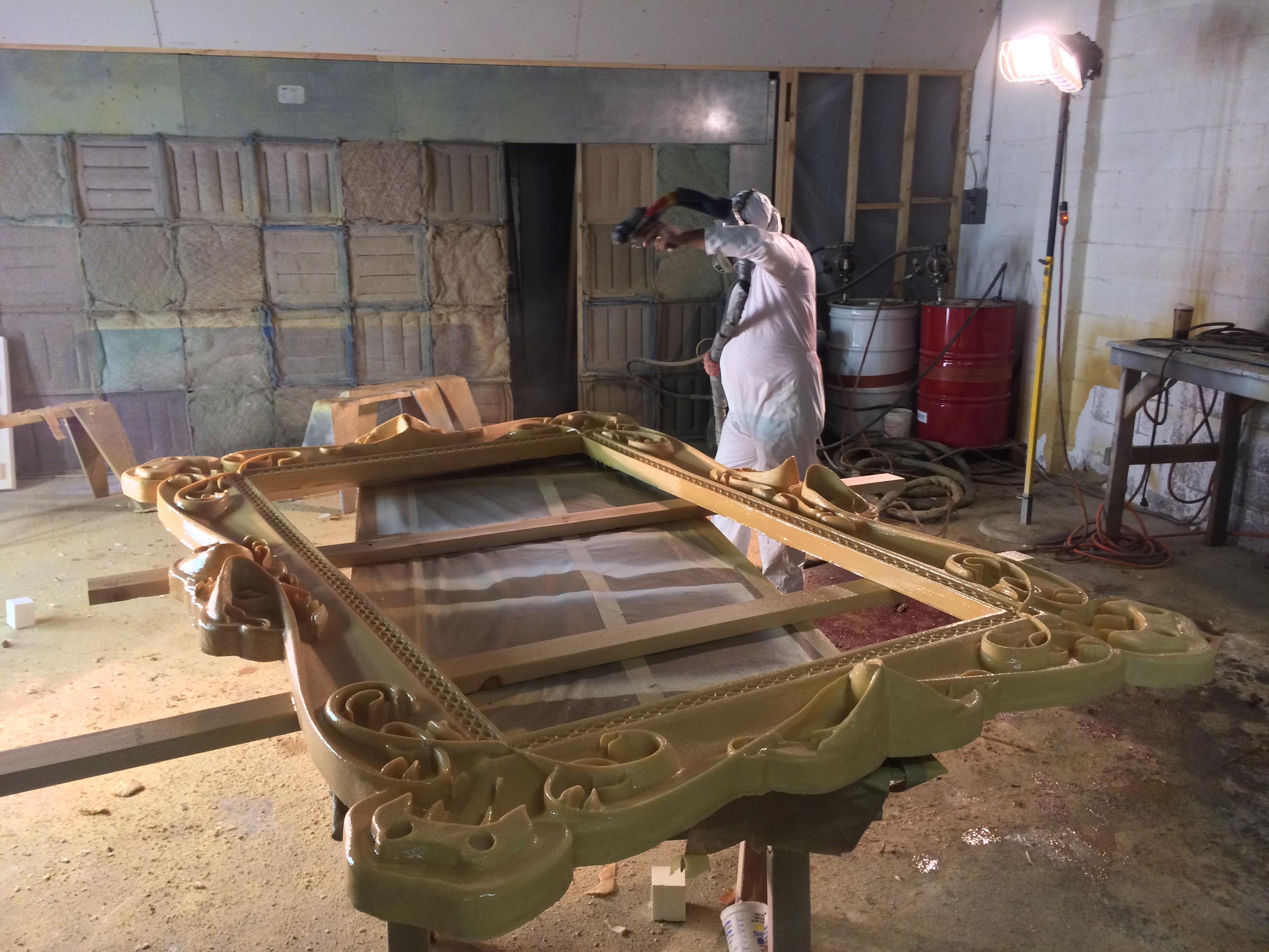 Atrium frame in progress