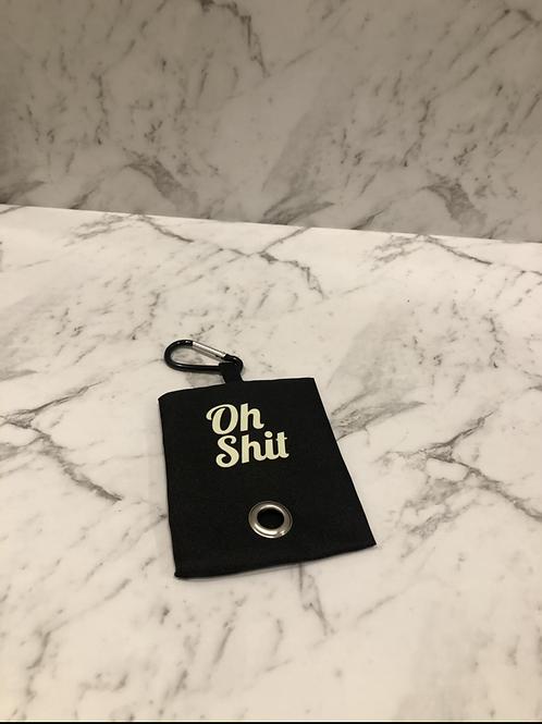 Black cheeky poop bag holder