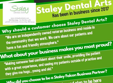 Staley Dental Arts is Falcon Club's February Business Partner of the Month